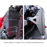 Honda CRF250R 2004 - 2009 Force Radiator Guards Silver
