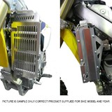 Yamaha WR450F 2007 - 2011 Force Radiator Guards Silver