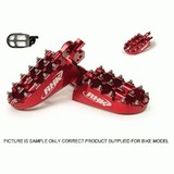 HONDA CRCRF450R RHK PURSUIT FOOTPEGS 2002 - 2012 RED