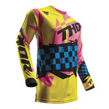 THOR 2017 SPRING PULSE LOUDA YELLOW/PINK JERSEY