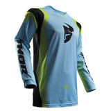 THOR 2017 SPRING PULSE AIR POWDER BLUE/LIME JERSEY