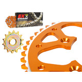 for KTM65 SX EK 2009 - 2008 EK Orange Chain Talon Sprocket Kit