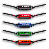 "Tag T1 Handlebar Honda Red 1 1/8"" TapeRed Low Factory bend w cross bar"