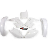 Honda CR125 2004 - 2007 RTECH White Replica Plastic Kit