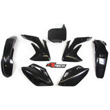 Honda CRF150 R 2007 - 2019 RTECH Black Replica Plastic Kit