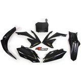 Honda CRF250 R 2010 RTECH Black Replica Plastic Kit