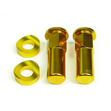 RHK GOLD RIMLOCK NUTS - PAIR