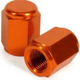 KTM85 SX RHK ORANGE ALLOY VALVE CAPS 2002 - 2017